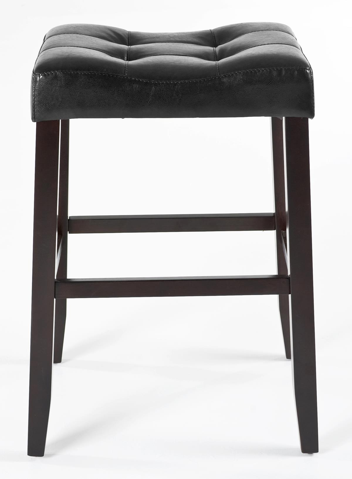Kinsey Faux Leather Stool 29 Ebony Weir 39 S Furniture