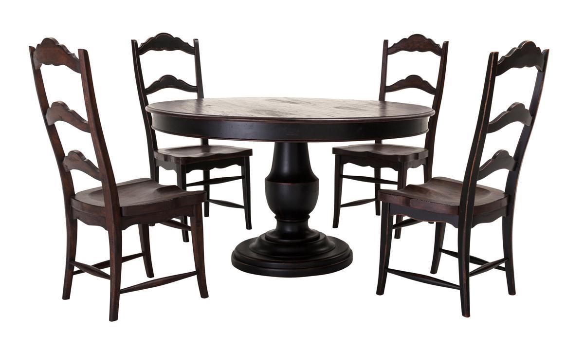 ... 2812529208_04955 000008 Scottsdale Tble Dk Pecan W Chairs119S.
