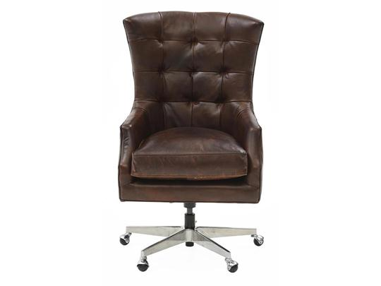 Keaton Top-Grain Leather Office Chair