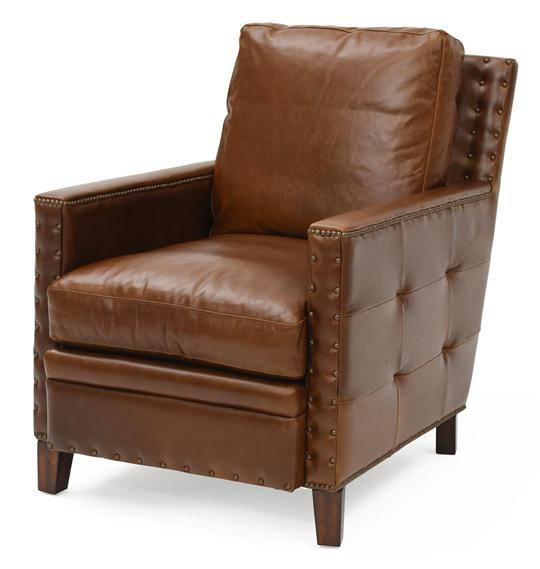 Elkhorn Top-Grain Leather Lounge Chair