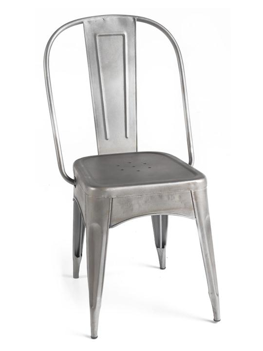 Timbuktu Metal Dining Chair, Aged Silver