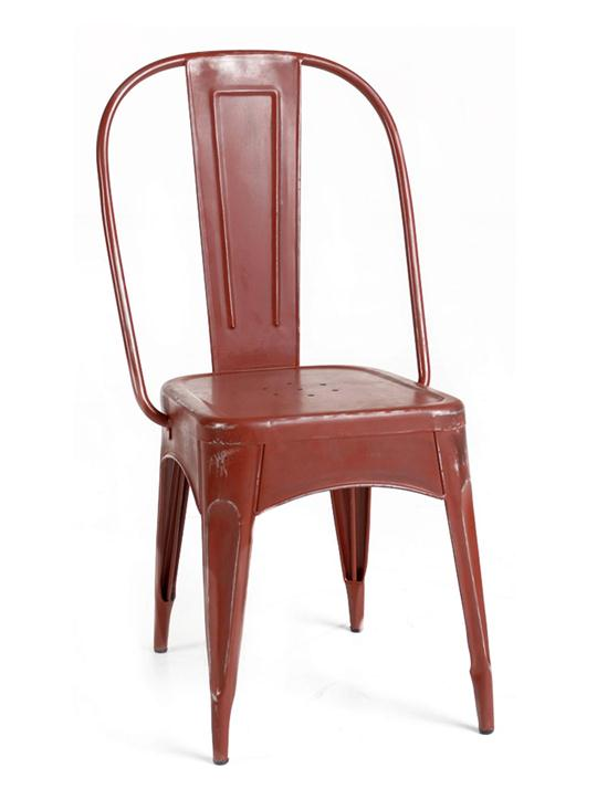 Timbuktu Metal Dining Chair, Red
