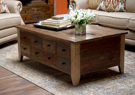 Rustic Coffee Table Double Trunk Weir 39 S Furniture