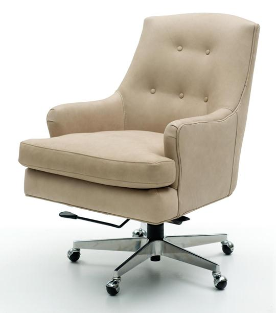 Triton Top-Grain Leather Desk Chair