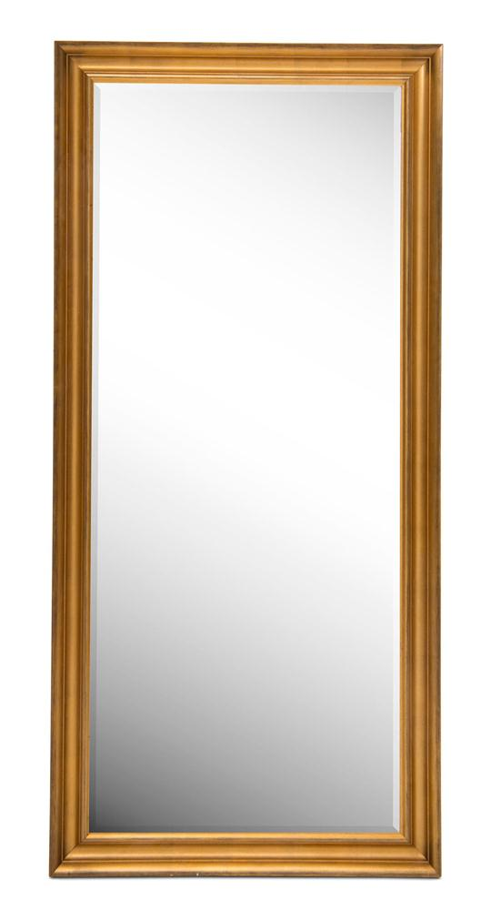 Gold-Rubbed Leaner Mirror