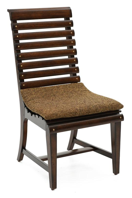 Barrel Oak Slat-Back Side Chair