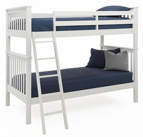 Mission Bunk Bed, Twin White