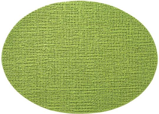 Fishnet Oval Placemat, Lime Green